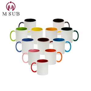 11oz inner color mug 12 colors sublimation coated mug customized with your design printing