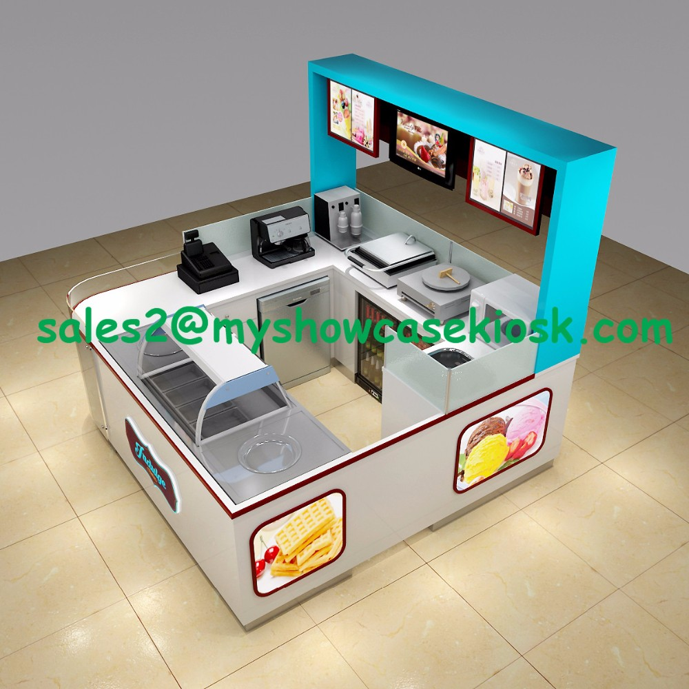 High quality 3D design ice cream frozen yogurt kiosk for sale