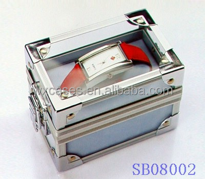 hot sell aluminum single watch box for men,watch display box manufacturer