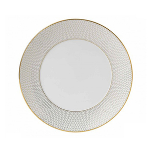 Royal ceramic gold rimmed dinner plates