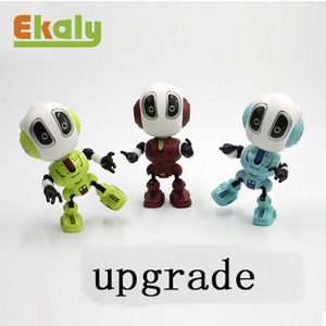2019 kids Intelligent electronic alloy robot mini toy die cast recording robot toys