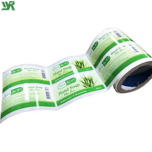 Custom Logo Printing Roll Sheet Packing Barcode Clear Pvc Pet Vinyl Paper Die Cut Adhesive Label Sticker