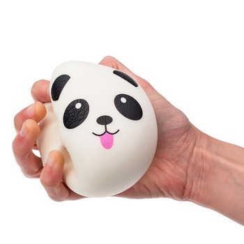New Design PU Slow Rise Squishy Keychain Cute White Panda Slow Rise Squishy Toys