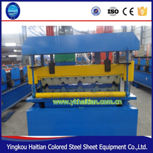 China top Building Steel Sheet Machine Line Construction 840 Corrugated Ibr Color Steel Flat Sheet Deck roofing forming machine