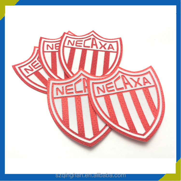 Custom football club logo football badges iron on patches for jersey