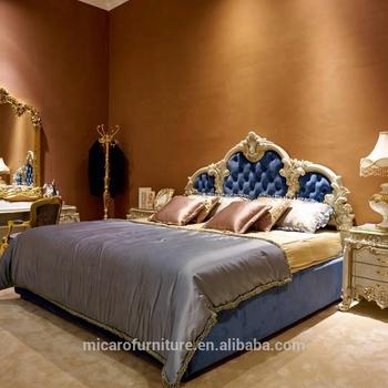 d92a415082 Royal Luxury Designs französisches cremeweißes Rokoko-Bett aus Massivholz  für Hochzeitsmöbel
