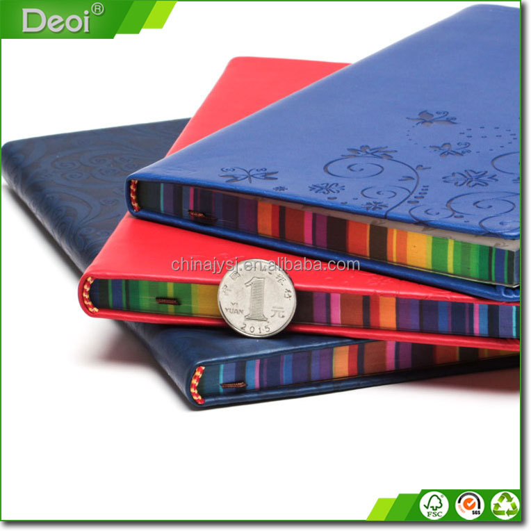 A5 kustom dicetak colorful spiral notebook