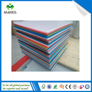 Plastic PP copolymer sign board corugated printing sheet