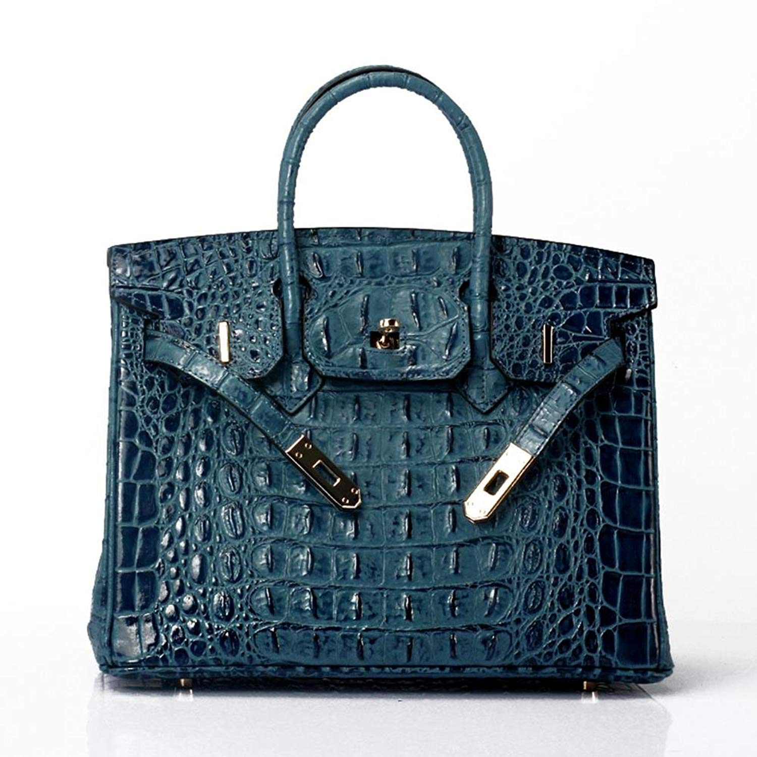 524778bc93 Get Quotations · Lalagen Women s Crocodile Embossed Clearance Genuine  Leather Top Handle Padlock Purses and Handbags