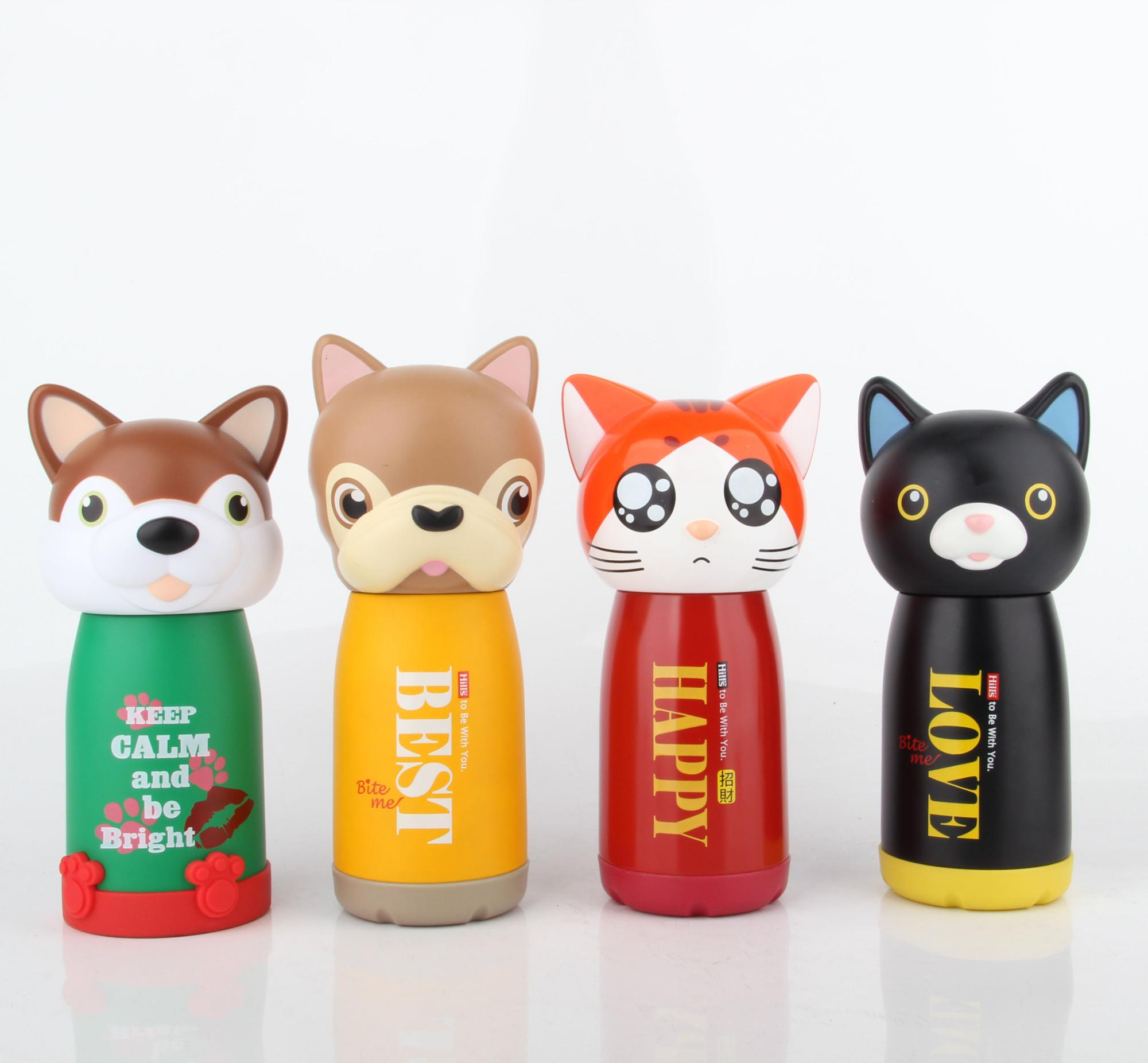 Cute Animal Symbol Water Bottles For Kids - Buy Stainless Steel Water  Bottles For Kids,Animal Shape Water Bottle,Double Wall Insulated Water  Bottles