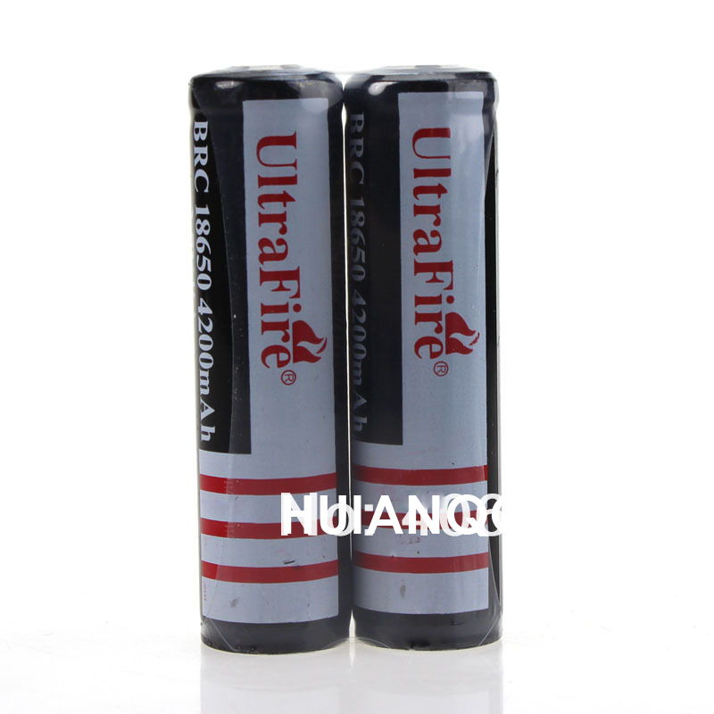 Ultrafire BRC 18650 4200mAh Rechargeable Battery 3.7V Li-ion Lithium Battery Black