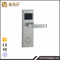 fire proof t5557 rfid card hotel door sensor lock with management system