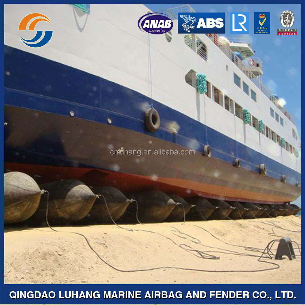 Super durable reusable ship launching marine rubber airbag