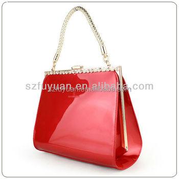 Glossy Pvc Material Crystal Handbag