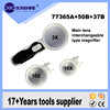 Chic Loupe Magnifier 3 In 1 Magnifying Jewelry Glass 90mm Handheld Reading For Elderly