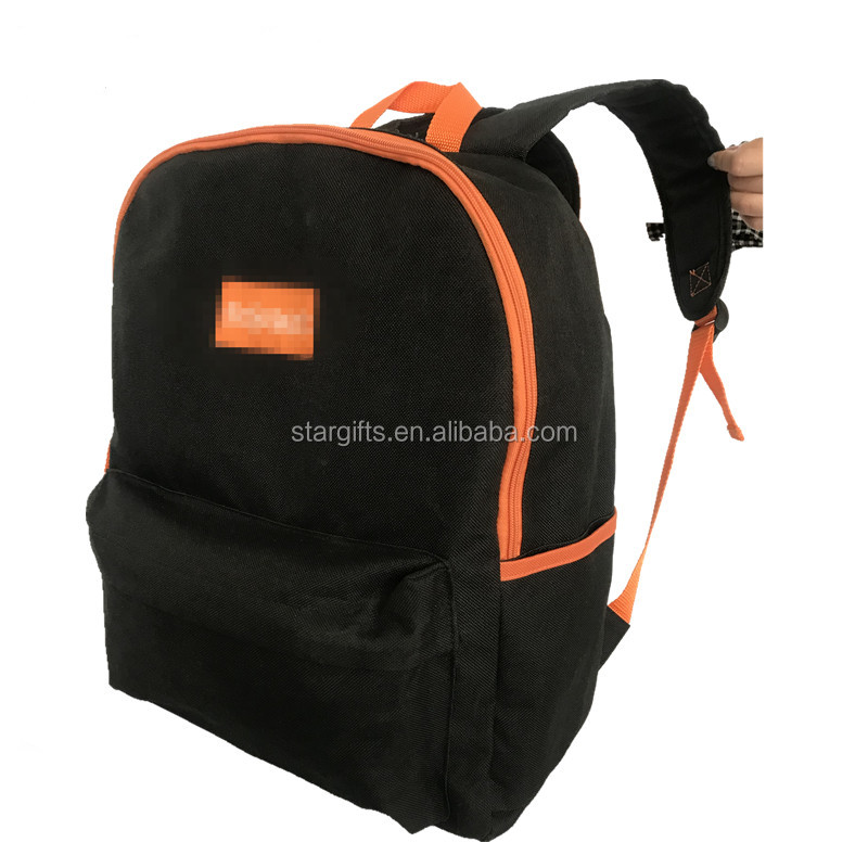 Silk Screen Polyester Fabric Travel Backpack 100Cheap School Bag