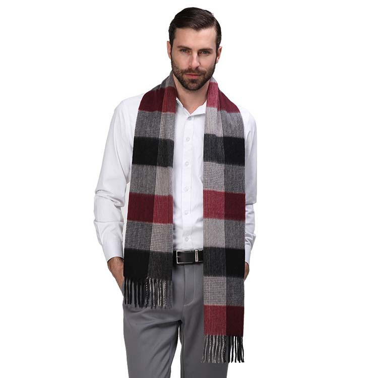 Factory Sale Stripe Mens Top Quality Fashionable Cashmere Tassel Scarf