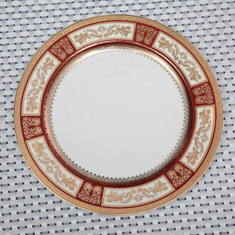 European style bone china dinnerware luxury porcelain dinner set for hotel