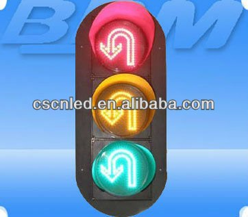 300mm 220 v flecha led traffic light (u-turn flecha)