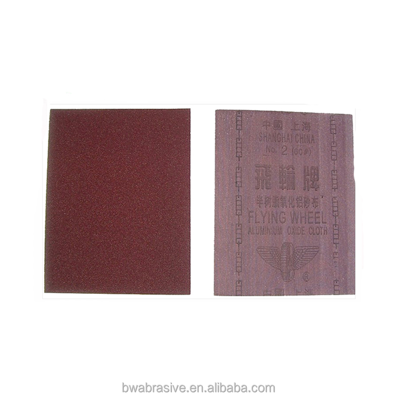 Flying wheel abrasive emery cloth for glass