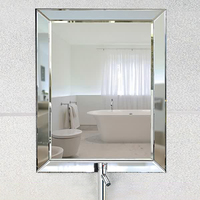 Norhs rectangle custom size handmade craft art wall mounted glass mirror with mirror frame for hotel project