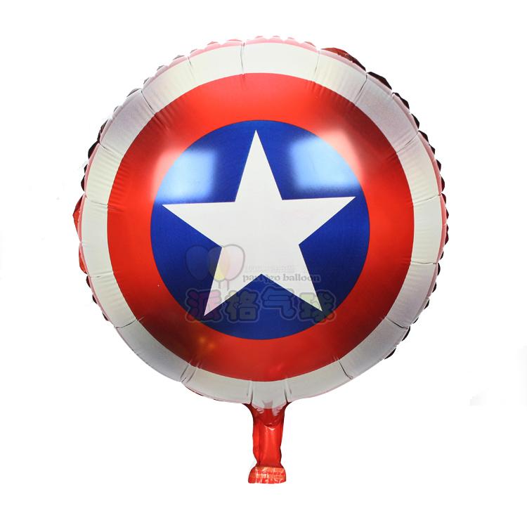 18 pulgadas Capitn Amrica escudo globo de helio inflableBalones