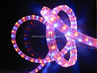 100 meters flat 4 wires LED color changing light rope for christmas outdoor & indoor use house decoration