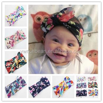 newest baby girls turbante elastic hair sequin bows turban headband head  wraps bands headbands band for 27384fd39c7