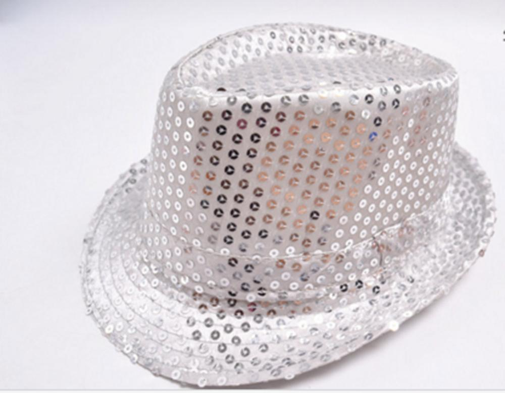 LED Fedora Hat Sequin Flashing Light Up Jazz Cap Costume Fancy Dress Adult  Rose Red 1fd152a4a9cc