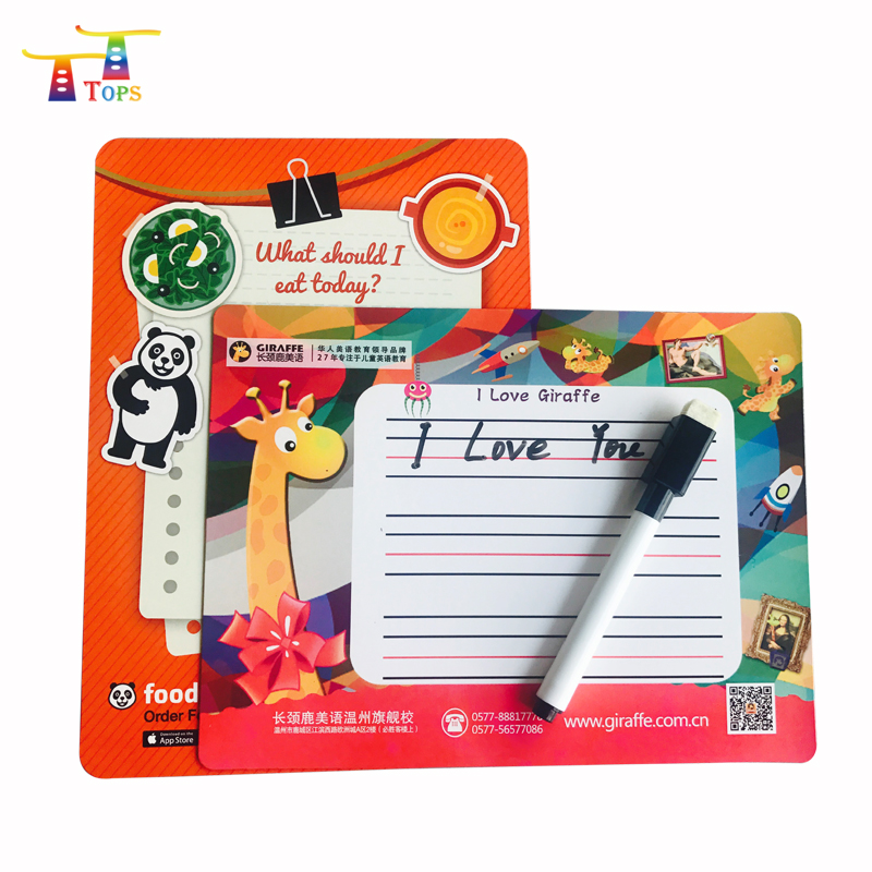 9x12 Inches standard size fridge Customized cheap Dry erase magnetic writing board sheet flexible magnetic board weekly planner