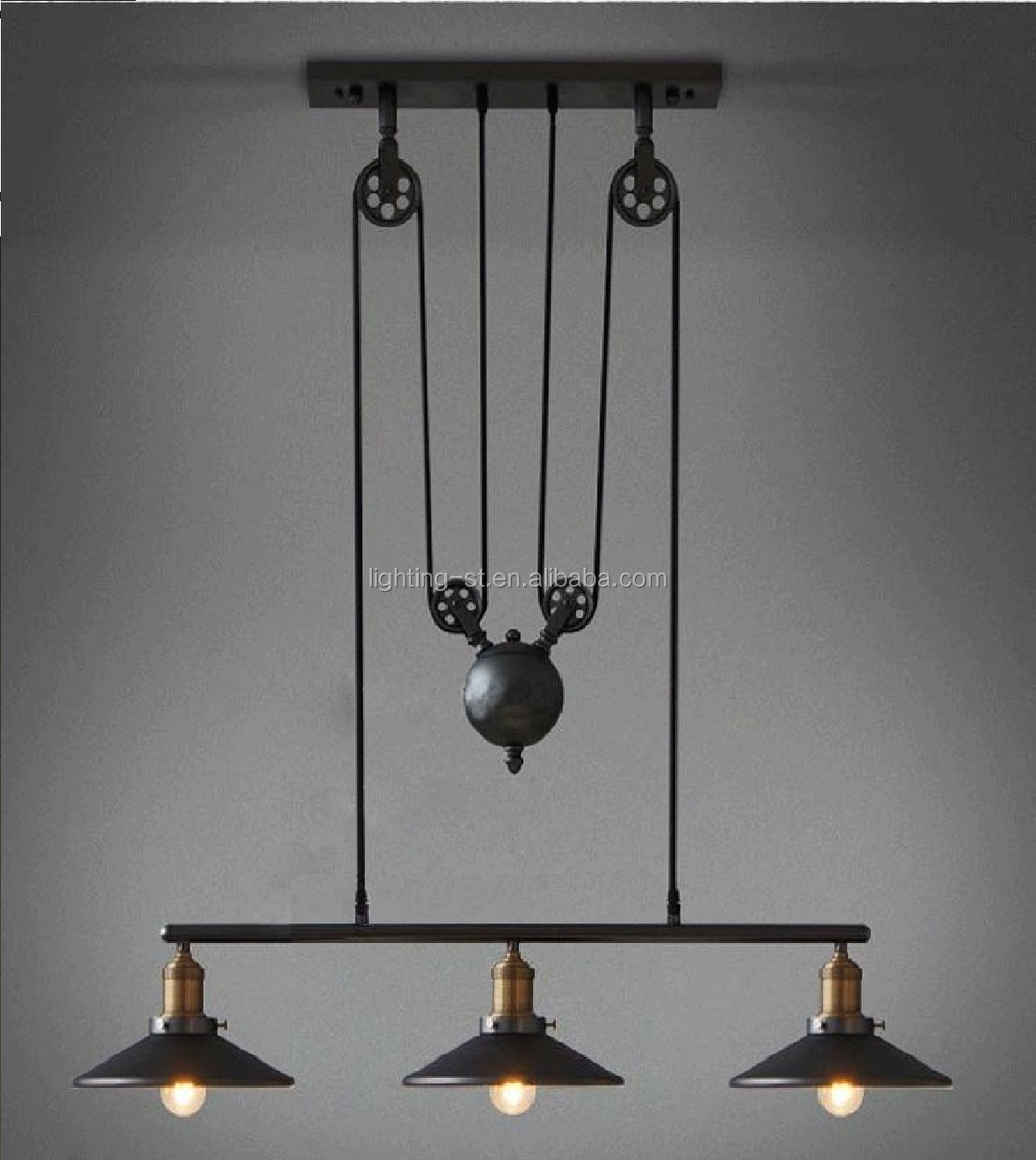 Artistic Pendant Light With 3 Lights In Pulley Block Design Morden ...