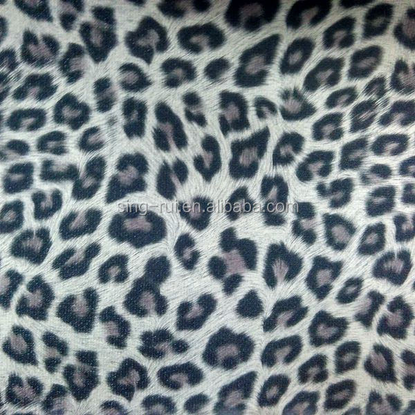Leopard skin PU synthetic leather