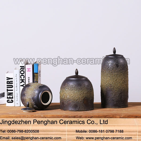 Modern wholesale tall cylinder arabic black flower ceramic chinese vase