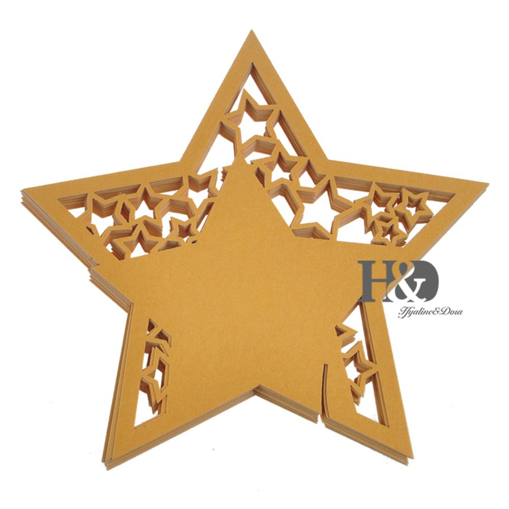 Get Quotations 120pcs Laser Cut Hollow Out Golden Star Name Place Card Wedding Table Cards For Party