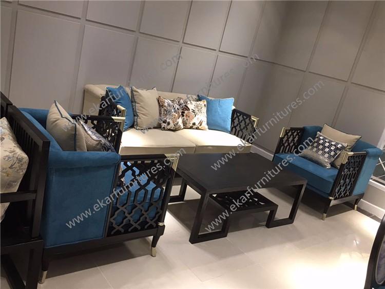 Victorian Style Furniture Luxury Living Room Set Velvet Chesterfield Sofa Part 48
