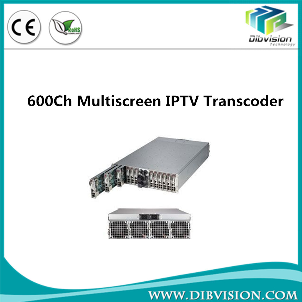 600 channel Multi screen profiles hls http live streaming video h.264 transcoder