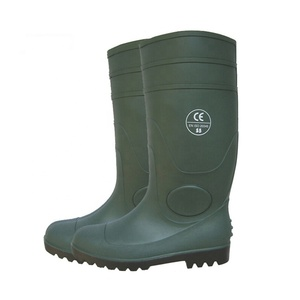 CE standard oil acid resistant steel toe PVC safety rain boots