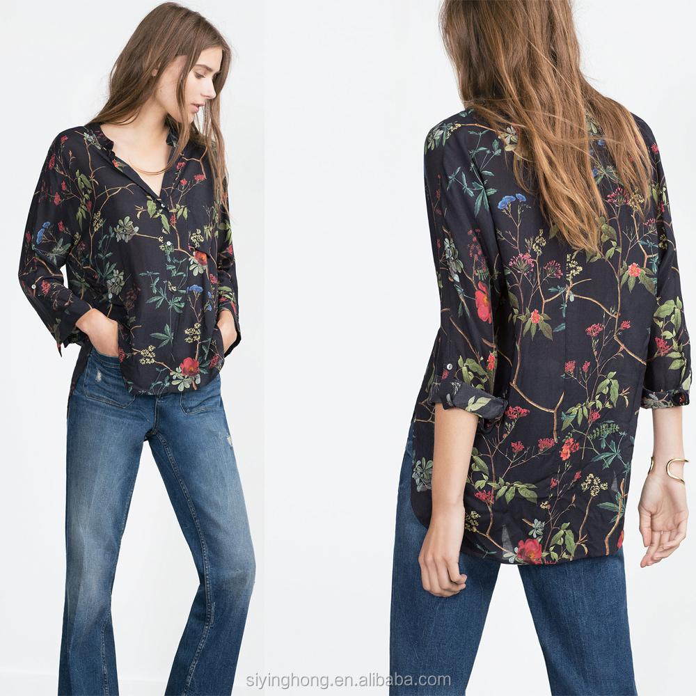 Shirt design ladies 2015 - Ladies Tops Printing Designs Ladies Tops Printing Designs Suppliers And Manufacturers At Alibaba Com