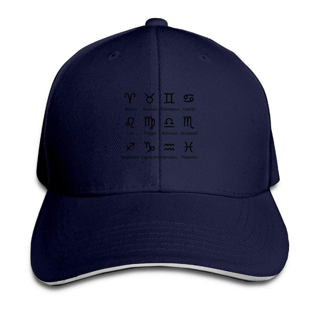 d9fa2510b6a Get Quotations · Men s Women s Cute Pisces Zodiac Tattoo Cotton Adjustable  Peaked Baseball Cap Adult Sandwich Hat