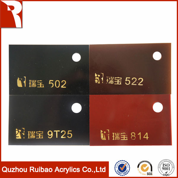 rpoa factory direct sale acrylic black white sheet/pmma two color