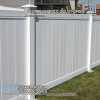 Fencemaster cheap white vinyl full privacy fence