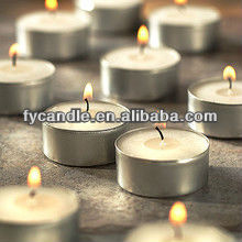 high quality -long burning time -white tealight candle with aluminum and 100% cotton wick