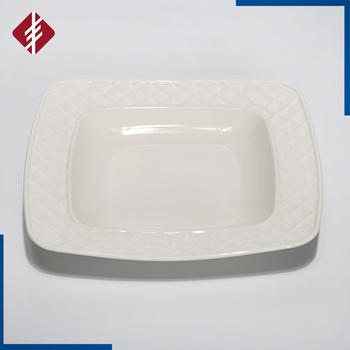 White porcelain deep square plates/deep square dinner plate/deep dish & White Porcelain Deep Square Plates/deep Square Dinner Plate/deep ...