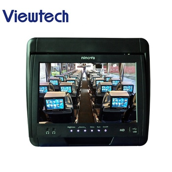 10.1'' Wired Bus VOD System, Advertising/Movie/Music/Game/Catering/Survery Service Available