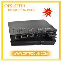 hdmi multiplexer 4 RJ45 channel Gigabit Ethernet Optical Fiber Switch