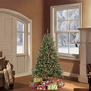 Puleo Tree Company 4.5 Pre-Lit Fraser Fir Artificial Christmas Tree with 250 Clear UL-listed Lights