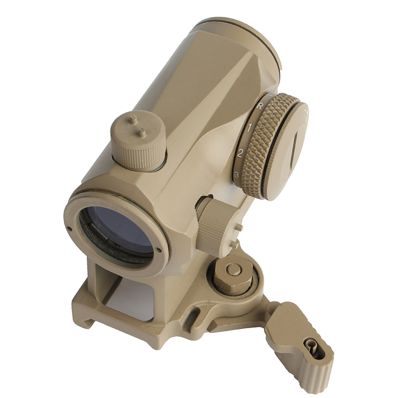 DE 1X24 Rifescope Sight Illuminated Red Green Dot Sight With Quick Release Red Dot Scope Mount For Hunting