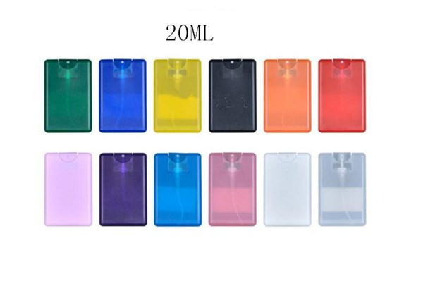 20ml/fl.0.7oz. mini plastic credit card pocket refillable portable perfume spray/mist/bottle with pump for men