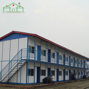 Cheap expandable easy assembling prefab labor camp house