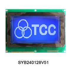 Monochrome 240x128 graphic lcd display module 20pin with t6963c